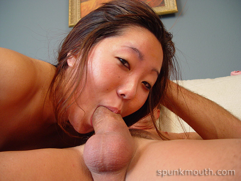Hot wife bathed in spunk